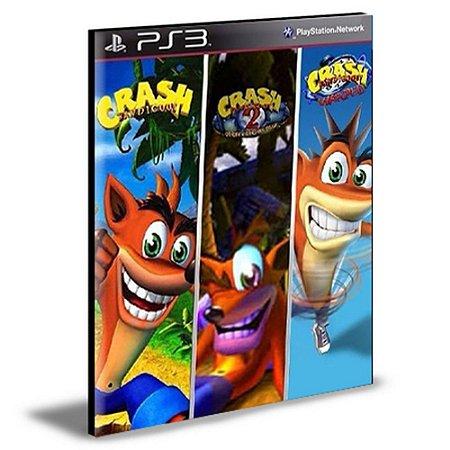 COMBO CRASH BANDICOOT 1 2 3 PS3 PSN MÍDIA DIGITAL