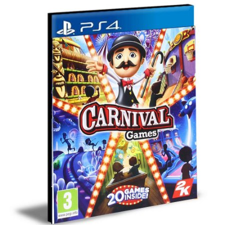 Carnival Games  Ps4 e Ps5 | Psn | Mídia Digital