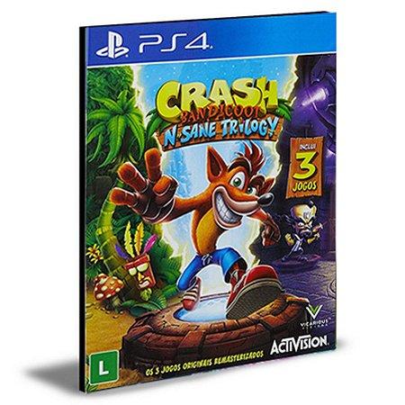 Crash Bandicoot N.sane Trilogy Ps4 e Ps5 Psn Mídia Digital