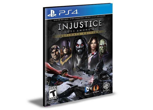 INJUSTICE GODS AMONG US ULTIMATE EDITION PS4 e PS5 PSN MÍDIA DIGITAL