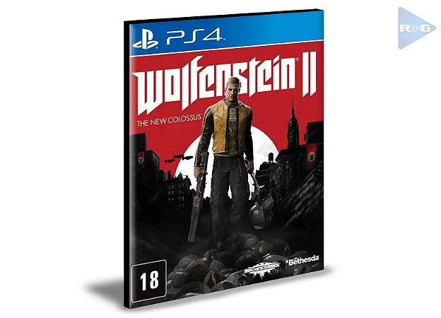 Wolfenstein 2 The New Colossus  Ps4 e Ps5 Psn  Mídia Digital