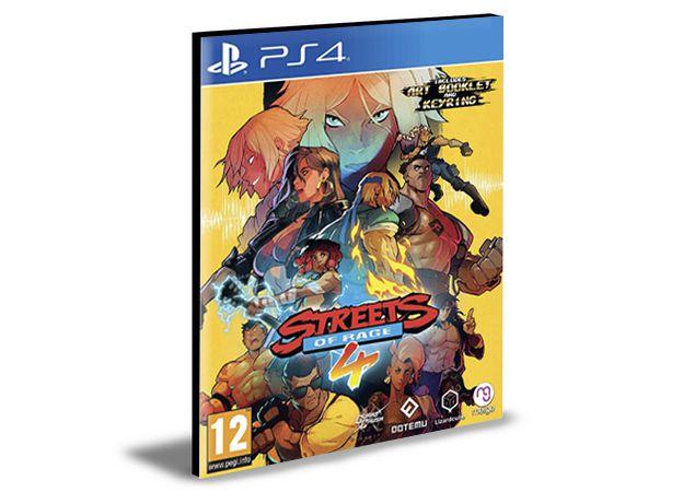 Streets Of Rage 4 Ps4 e Ps5 Psn Mídia Digital
