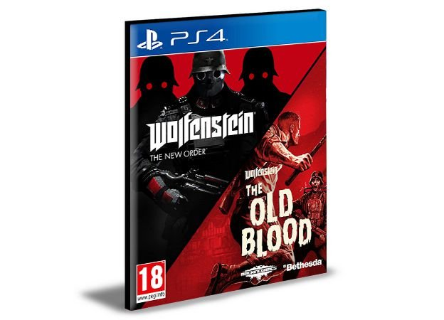 Wolfenstein The Two-Pack Ps4 e Ps5 Psn  Mídia Digital