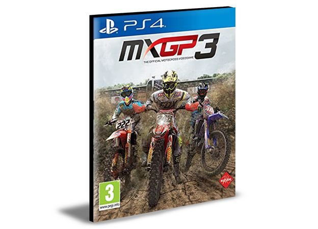 MXGP3 - The Official Motocross Videogame Ps4 e Ps5 Psn Mídia Digital