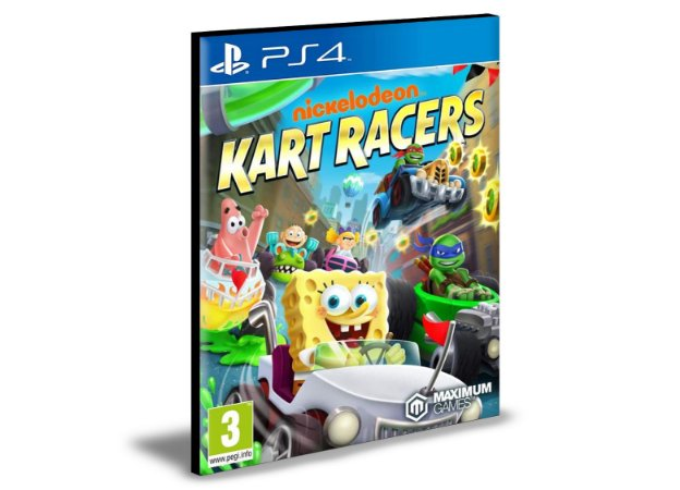 Nickelodeon Kart Racers  Ps4 e Ps5  Psn  Mídia Digital