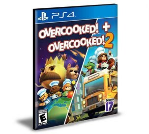 Overcooked! + Overcooked! 2 Ps4 e Ps5 Psn  Mídia Digital