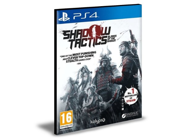 Shadow Tactics Blades of the Shogun Ps4 e Ps5 Psn  Mídia Digital