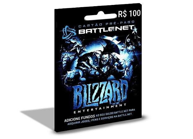 Cartão Battle.Net R$100,00 Reais