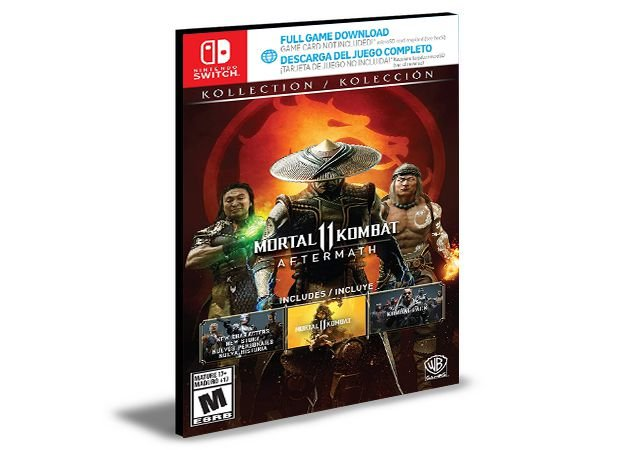 Mortal Kombat 11 Koleção Aftermath Nintendo Switch MÍDIA DIGITAL