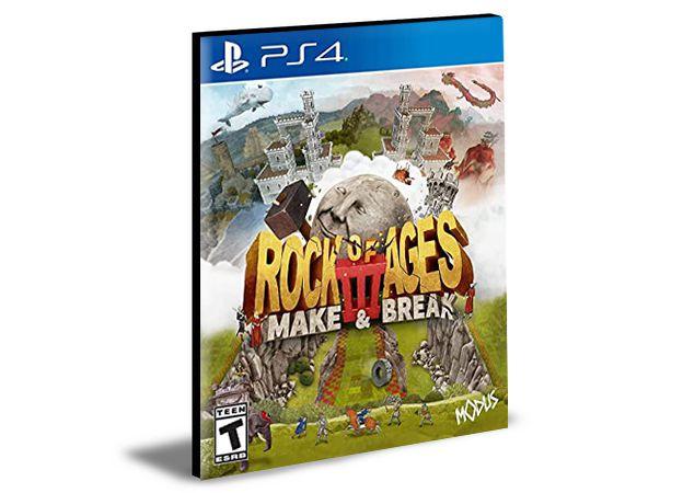 Rock of Ages 3 Make & Break Ps4 e PS5  Mídia Digital