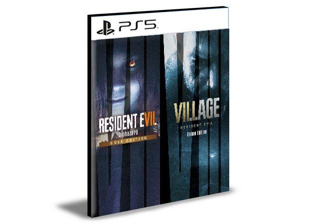 Pacote Completo Resident Evil Village 8 & Resident Evil 7 PS5 Psn Mídia Digital