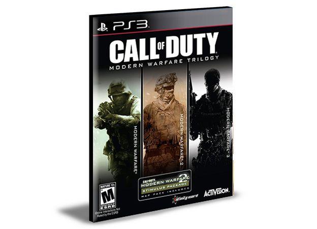 Pacote Call Of Duty Modern Warfare Ps3 Psn Mídia Digital