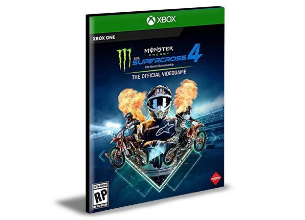 Monster Energy Supercross The Official Videogame 4 Xbox One e Xbox Series X|S Mídia Digital
