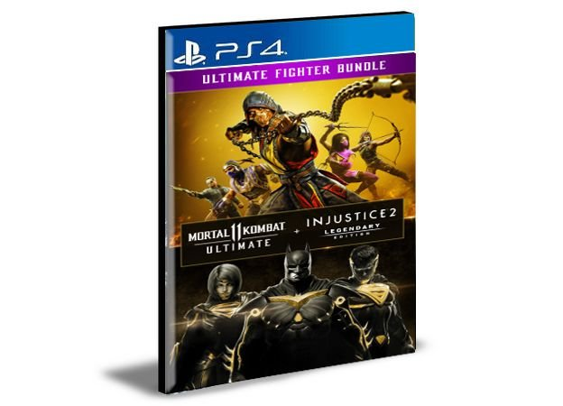 Mortal Kombat 11 Ultimate + Injustice 2 Leg. Edition Bundle Ps4 e PS5 Mídia Digital