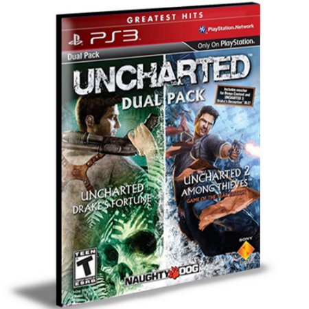 Uncharted 1 E 2 Dual Pack PS3 PSN  MÍDIA DIGITAL