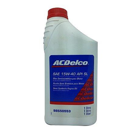 Oleo Motor Acdelco  15W40 API SL Semisintetico  1 LITRO