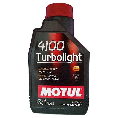 Oleo Motul TURBOLIGHT Sae 10w40 Api SM MBApproval 229.1