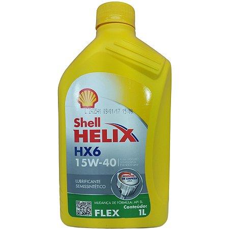 Shell Helix HX6 15w40 semissintético  API SL 1 L