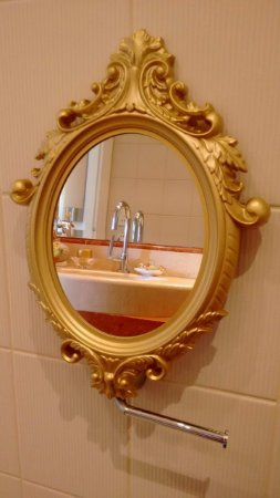 Espelho camarim Dourado