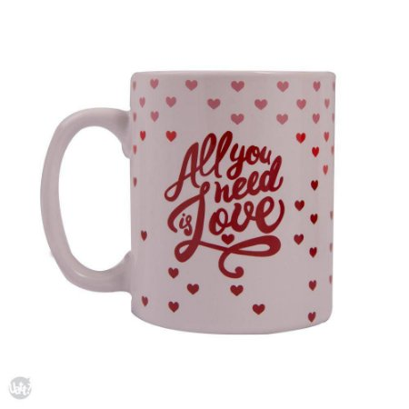 CANECA CILINDRICA - ALL YOU NEED IS LOVE.