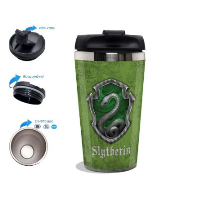 Copo Térmico Personalizado Harry Potter slytherin