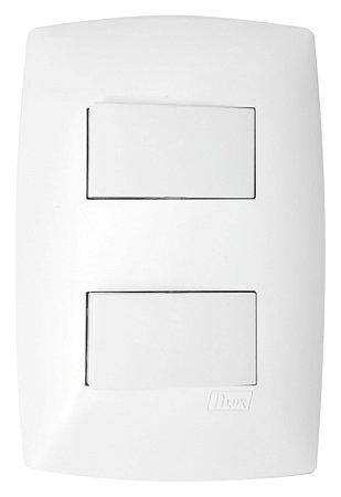 Interruptor 2 Tecla Simples Blux Linha Home