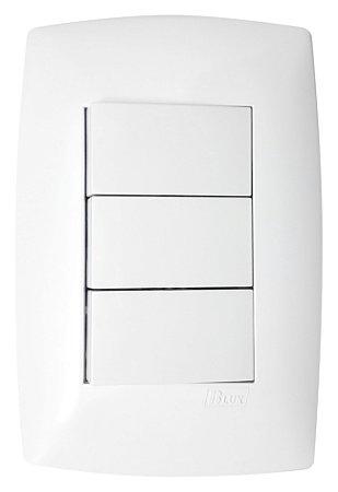 Interruptor 3 Tecla Simples Blux Linha Home