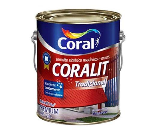Tinta Coralit Esmalte Sintetico Branca 3,6L Coral