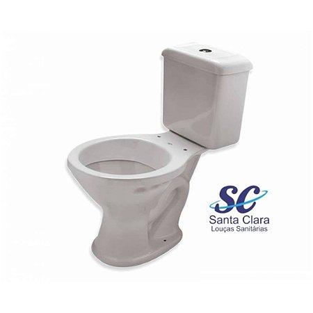 Bacia Sanitária com Caixa Acoplada Branco Araxá Santa Clara