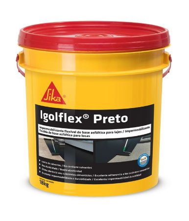 Impermeabilizante Igolflex Preto 18 Litros