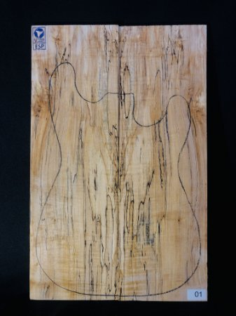 TAMPO SPALTED MAPLE PARA GUITARRA/BAIXO (DROP-TOP)