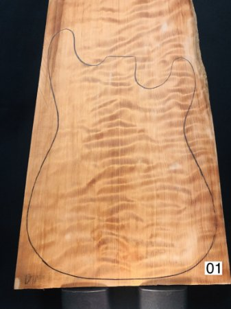 TAMPO CURLY REDWOOD PARA GUITARRA/BAIXO (DROP-TOP)