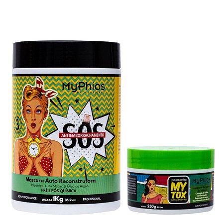 Kit SOS Antiemborrachamento 1Kg + Botox MyTOX 250g - MyPhios