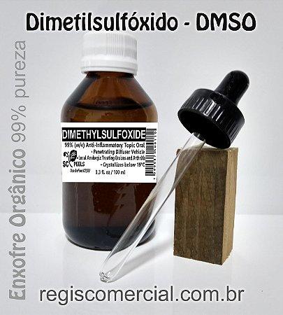 Dimetilsulfóxido DMSO 99% frasco vidro 100 ml