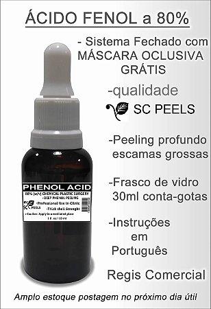 Kit Ácido Fenol 80% 30 ml (peeling pele clara) Mascara Oclusiva pet 100 ml