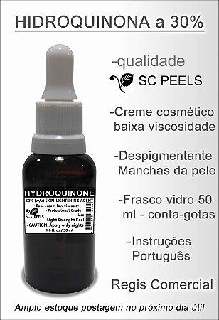 Hidroquinona Ácido 30% (clareamento de manchas da pele) vidro 50 Ml
