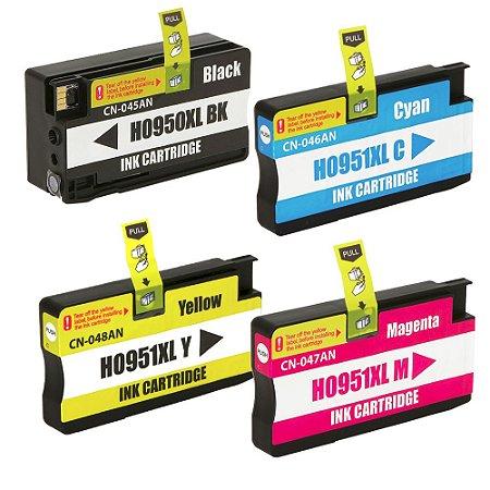 Kit 4 Cartuchos HP 950XL | HP 951XL CMYK Alto Rendimento Compatível