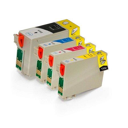 Kit 4 Cartuchos para Epson 140 | T140 | TX620FWD CMYK Compatível