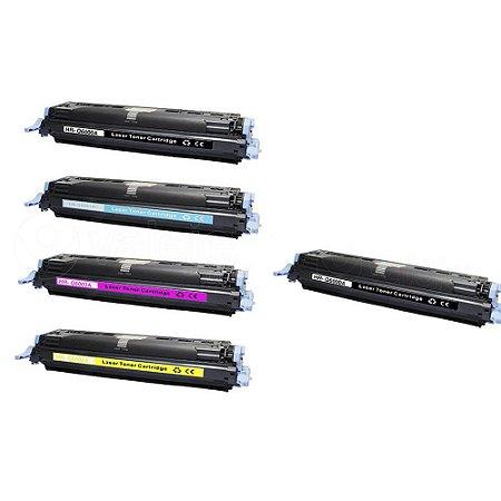 Kit 4 Toner HP 2600 | Q6000A CMYK + Toner HP Q6000A Black Compatível