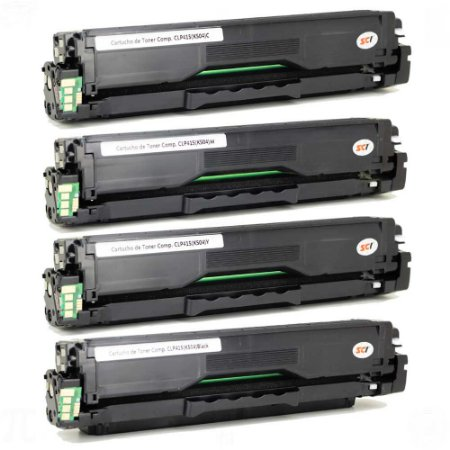 Kit Toner para Samsung 504 | CLP 415NW | CLX 4195FW | 4195FN | CLT 504S CYMK Compatível