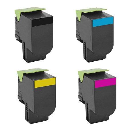 Kit 4 Toners para Lexmark C540 | C543 | C544 | X543 CMYK Compatível