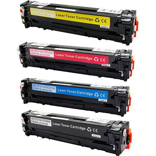 Kit 4 Toner HP CP1215   CP1515   CP1518   541A   542A CMYK Compatível