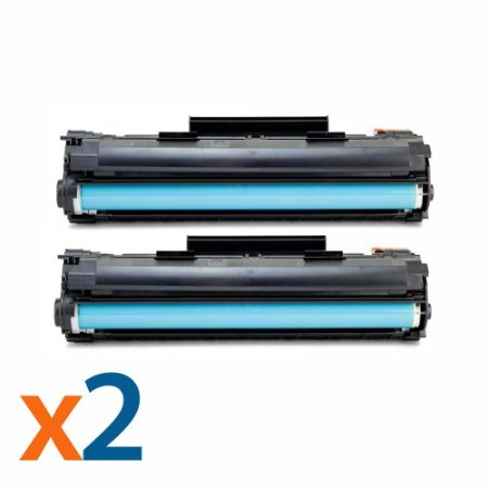 Kit 2 Toners para HP CB435A | CB436A Universal Compatível