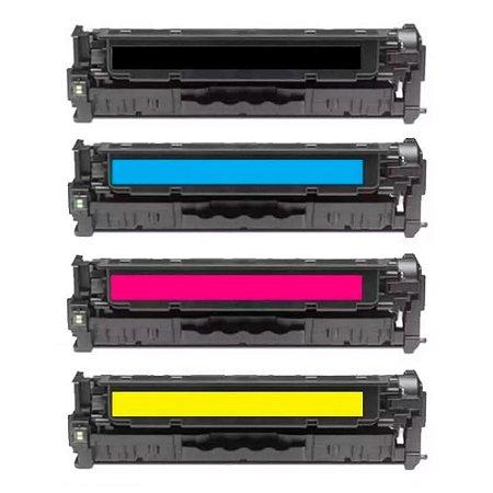 Kit 4 Toners para HP CP2025 | CC530A | CM2320 CMYK Premium Compatível 2.8k