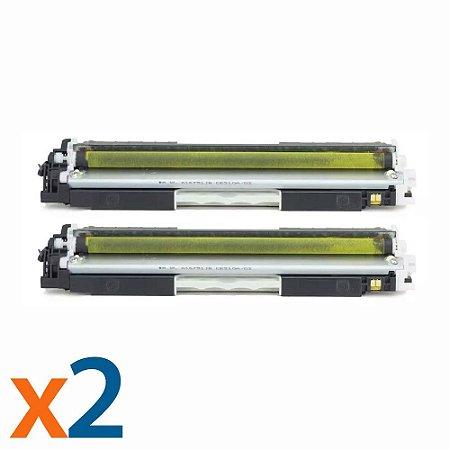 Kit 2 Toners para HP CP1025 | M175NW | CE312A | 126A Yellow Compatível