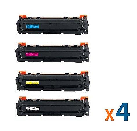 Kit 4 Toners para HP 202a   M254   M281 CMYK Compativel