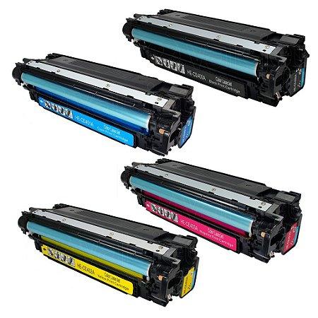 Kit 4 Toner HP Laserjet M551n   M551dn CMYK Compatível