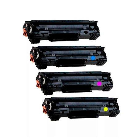 Kit 4 Toners para HP M277DW   M252DW CMYK Compatível Importado