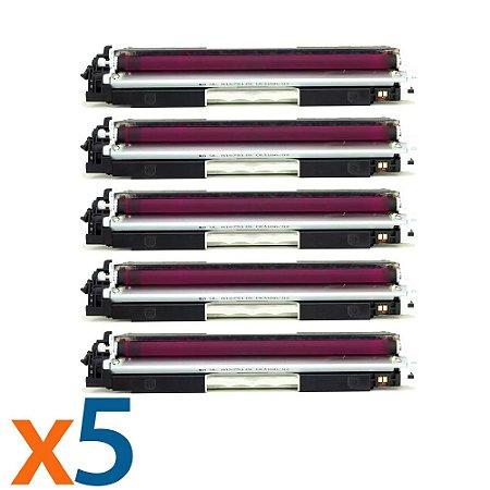Kit 5 Toners para HP CP1025 | M175NW | CE313A | 126A Magenta Compatível
