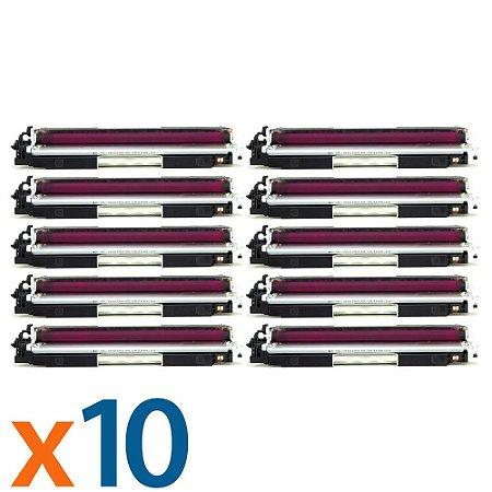 Kit 10 Toners para HP CP1025   M175NW   CE313A   126A Magenta Compatível